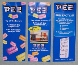 Pez Polybag Inserts