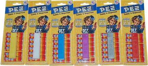 Pez Regulars on Visitor Center Exclusive Card