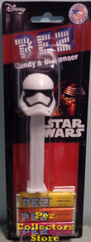 First Order Stormtrooper Pez Mint on Card