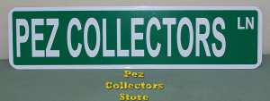 Pez Collectors Lane Street Sign
