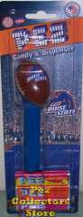 Boise State Football Pez Mint on Card with Smurf Turf
