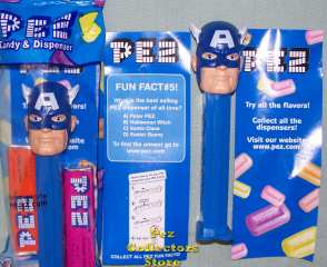Captain America Pez from Marvel Superhero Comics