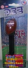 Texas A & M Football Pez Mint on Card