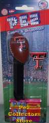 Texas Tech Football Pez Mint on Card