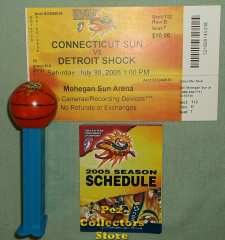 Washington Mystics Basketball Promotional Pez