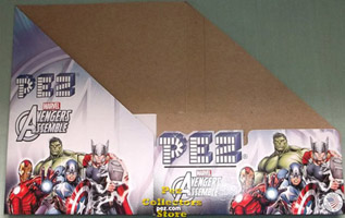 Marvel Avengers Assemble Pez Counter Display Box