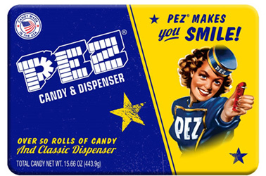 Retro Pez Candy Tin