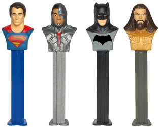 Justice League with Cyborg and Aquaman Pez Loose