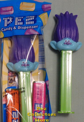 Purple Hair Branch Trolls Pez