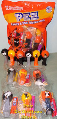 12 count Halloween Mini Pez Party Favor Bag
