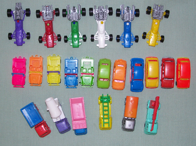 1970s Auto Pez Cars and Trucks from Pez International