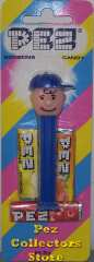 Charlie Brown with Tongue Pez on Halo Striped Card