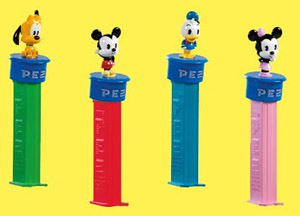 Disney Cuties European Click 'n Play Pez set