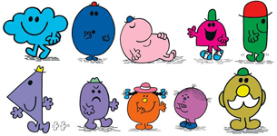 Mr. Men Characters that could be Click-n-Play Pez
