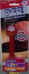 Ohio State University Basketball Pez on Card