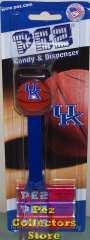 NCAA University of Kentucky Basketball Pez on Card