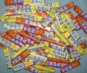1 lb. European Lemon & Orange Pez Candies