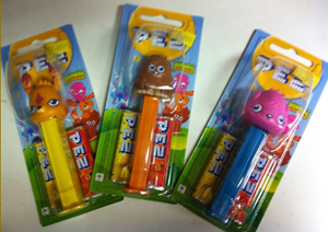 Moshi Monsters Pez on Card