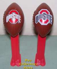 New Outlined Ohio State Pez (right), older Ohio State Pez (left
