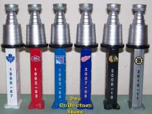 NHL Stanley Cup Pez set from Canada