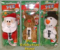 Christmas Plush Pez Set