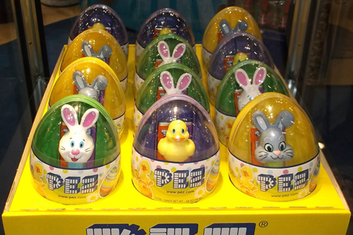 Mini Pez in Easter Eggs