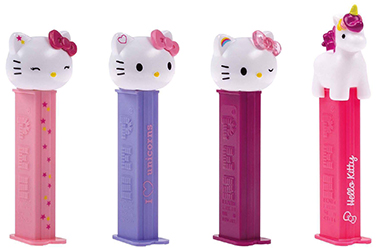 2018 European Hello Kitty Unicorn Pez Set