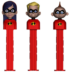 2018 Incredibles pez set