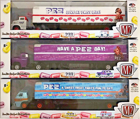 M2 Machines Second Series of Pez Semi Trucks