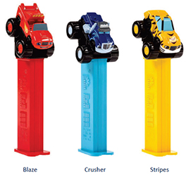 European Blaze, Crusher and Stripes Pez