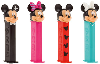 2020 European Mickey and Minnie Pez with New Molds