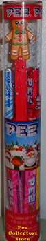 Gingerbread Man Pez In Christmas Tube