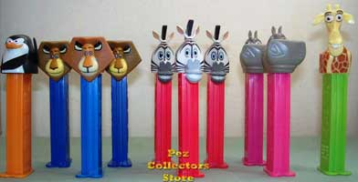 All of the Madagascar Pez!
