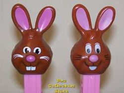 New Chocolate Bunny on left, older version on right