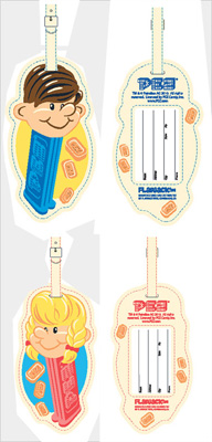 Pez Luggage Tags