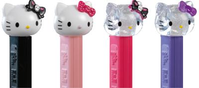 Hello Kitty Pez Skull, Crystal and Polka-Dots