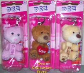 Valentine's Day Plush Pez Teddy Bears