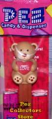 2011 Brown Love Teddy Bear Pez
