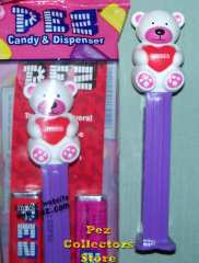2012 White Kisses Bear pez