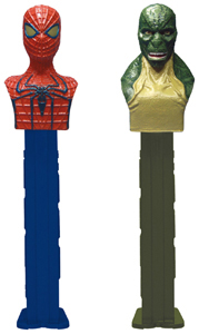 The Amazing Spiderman and Lizardman Pez