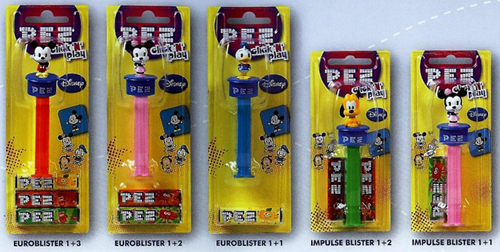 European Disney Cuties Click-n-play Pez