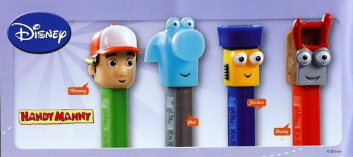 Handy Manny European Pez set loose