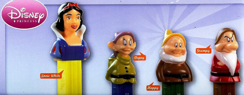 European Snow White Pez set