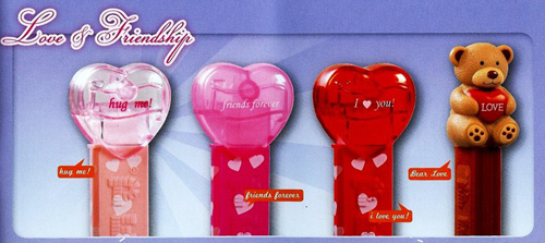 Love and Friendship Pez Hearts and Bears