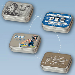 New Pez Tin on card