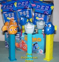 2013 Nemo left and center, original Nemo pez on right