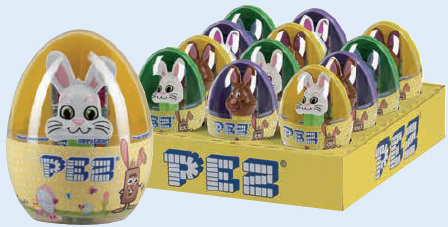 European mini Pez in Easter Eggs