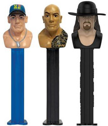 WWE Hall of Fame John Cena The Rock and The Undertaker Pez