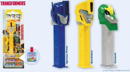 European Transformers Pez with Pez Play Codes