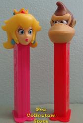 European Princess Peach and Donkey Kong Pez